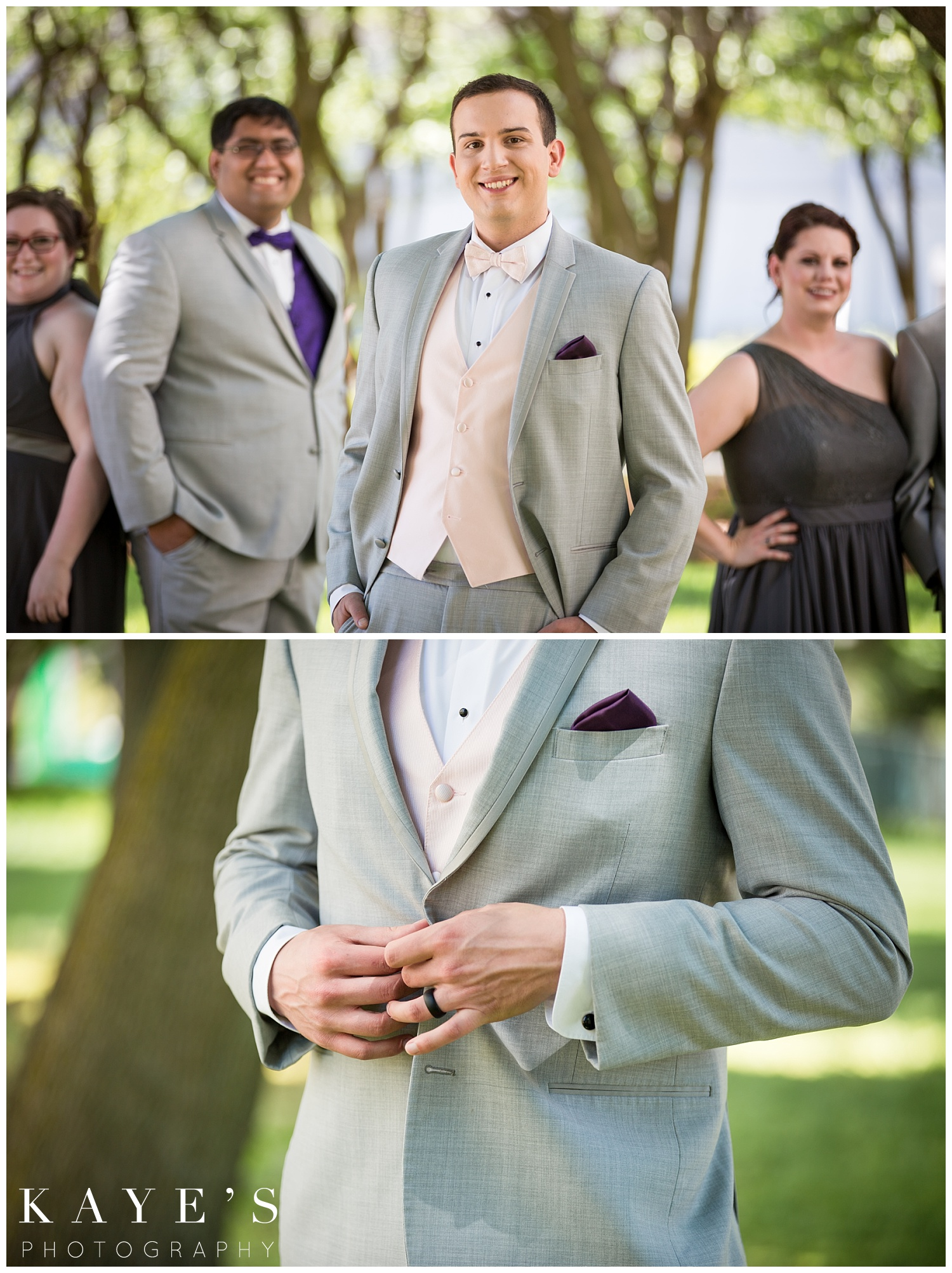 Groom portraits in grand rapids michigan by Kaye's Photography