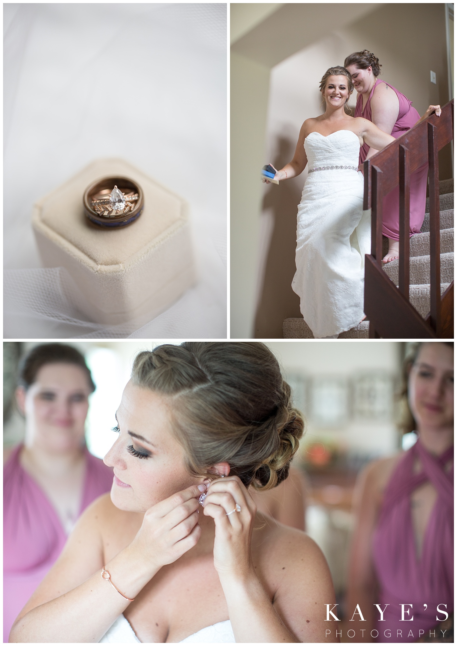 Bride getting ready to walk down the aisle at crossroads village in flint michigan!!