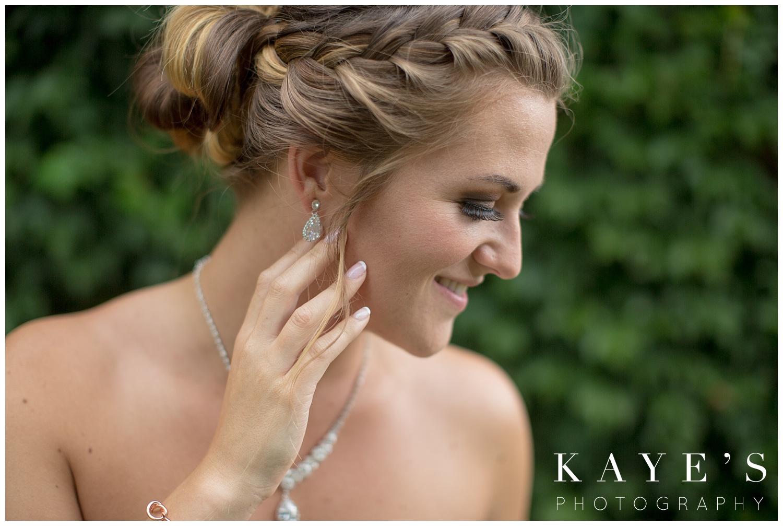 Beautiful bride posing for professional photographs in Flint Michigan!!