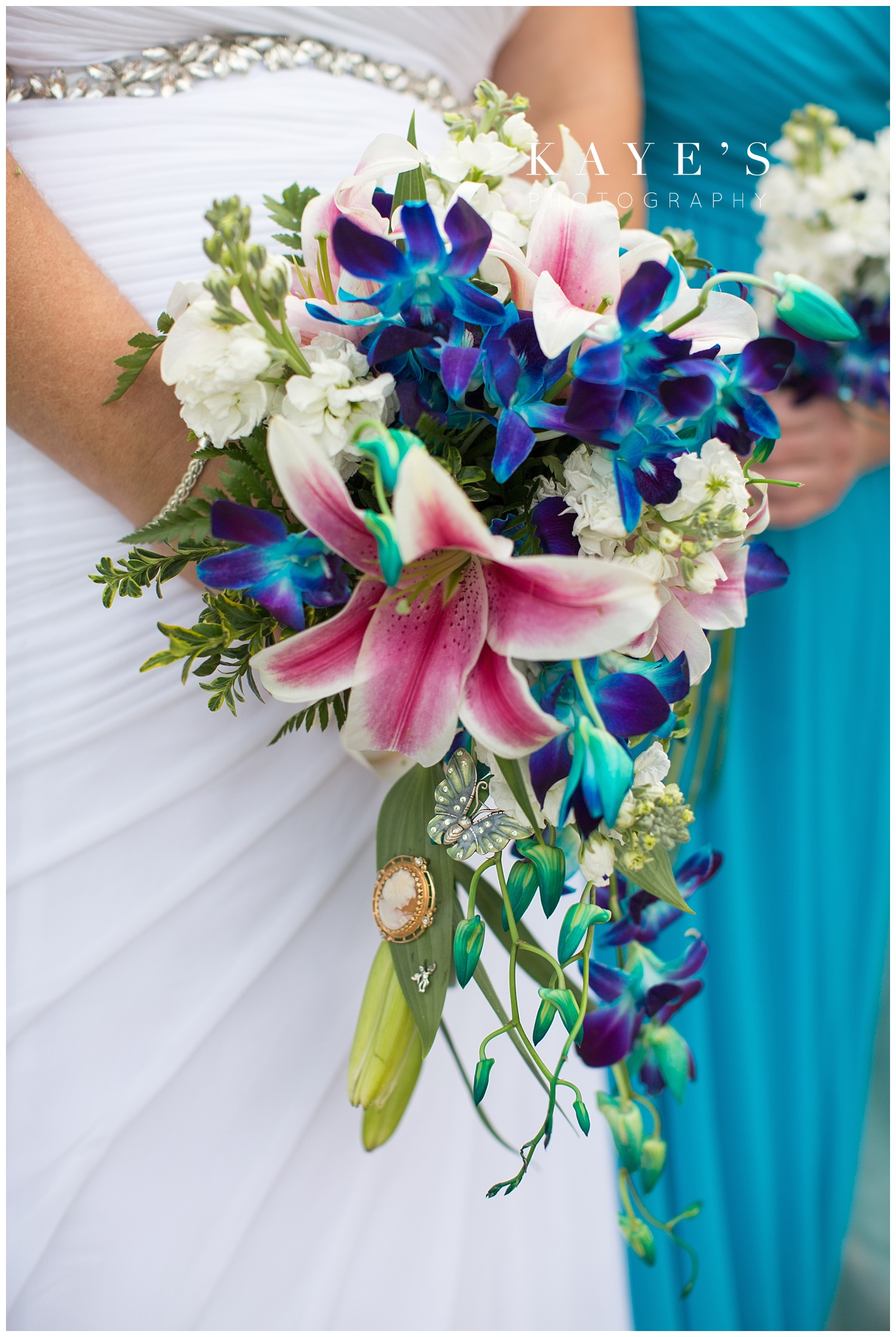 Brides gorgeous bouquet in tawas city Michigan