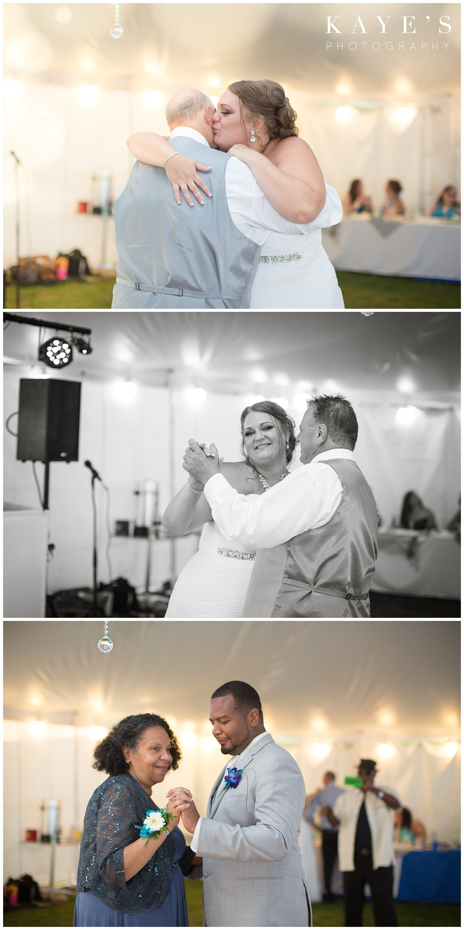 Special dances during wedding reception in tawas city Michigan