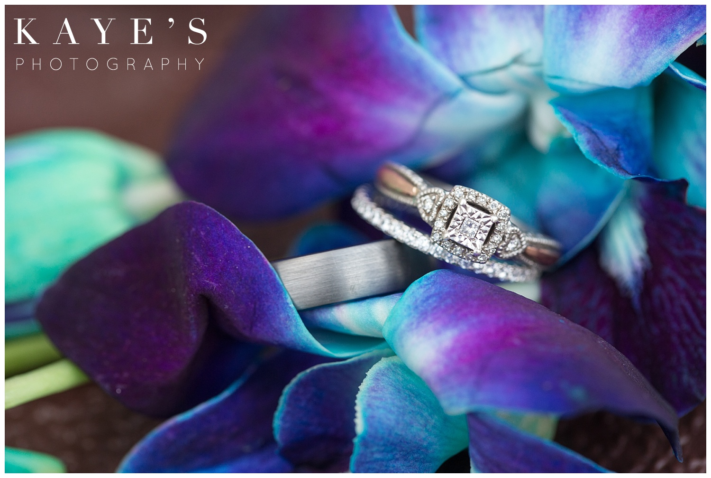 Professional wedding photographer ring shot in tawas city Michigan wedding