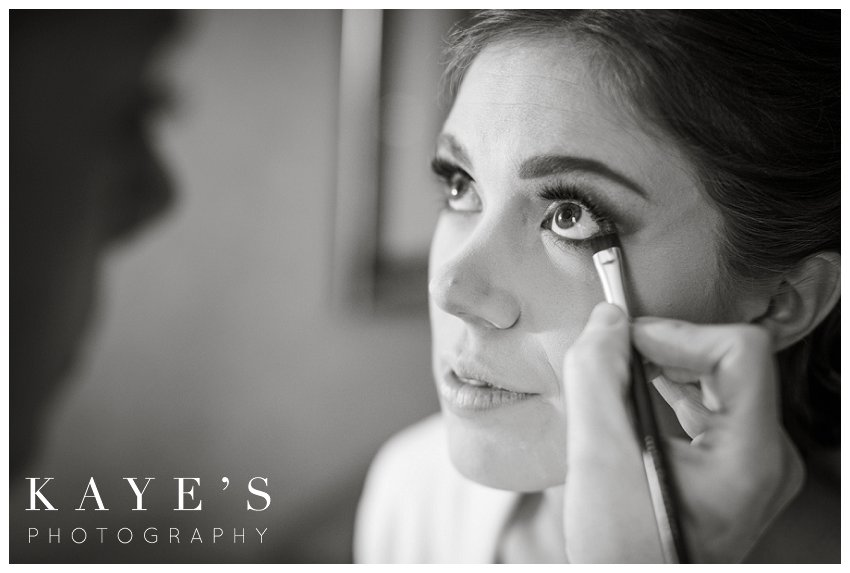 bride getting ready before crystal gardens michigan wedding