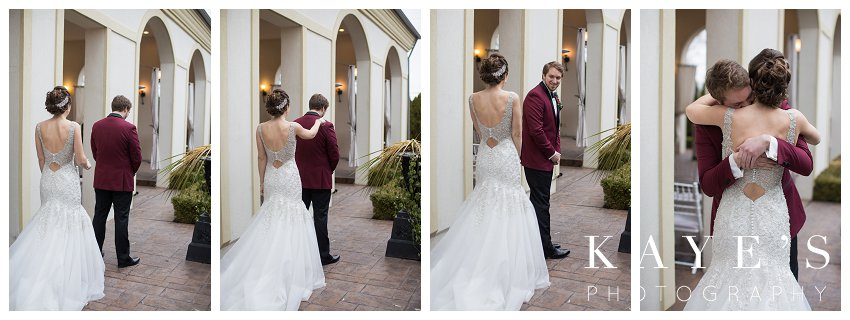 first look captured by kaye's photography at crystal gardens