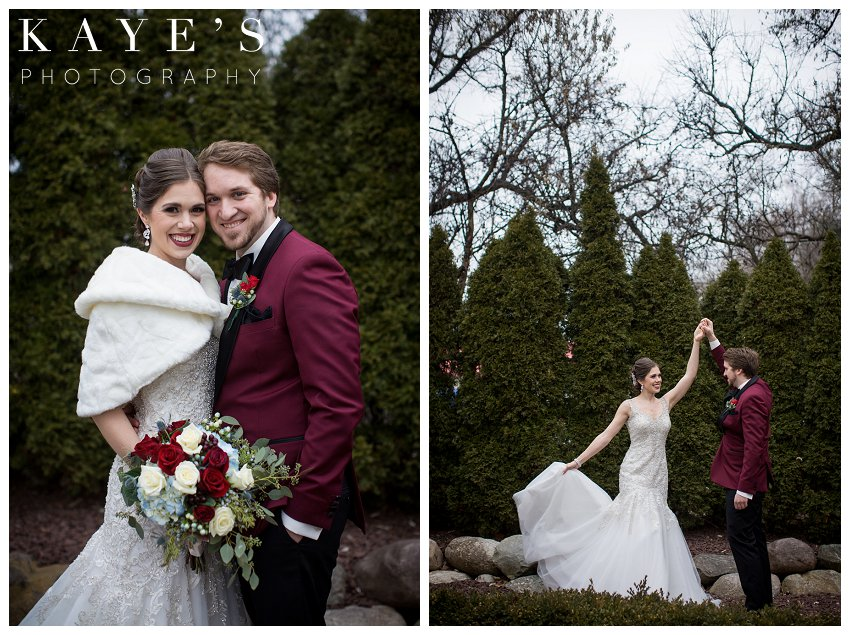 Christmas wedding at crystal gardens by Kaye's Photography