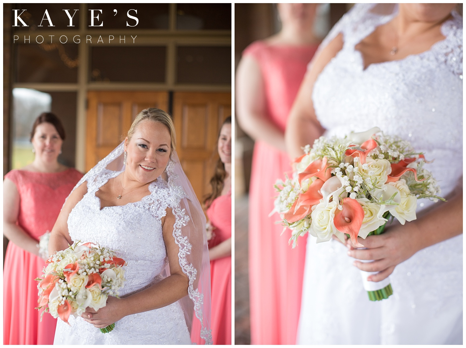 bride details during wedding photos by kaye's photography