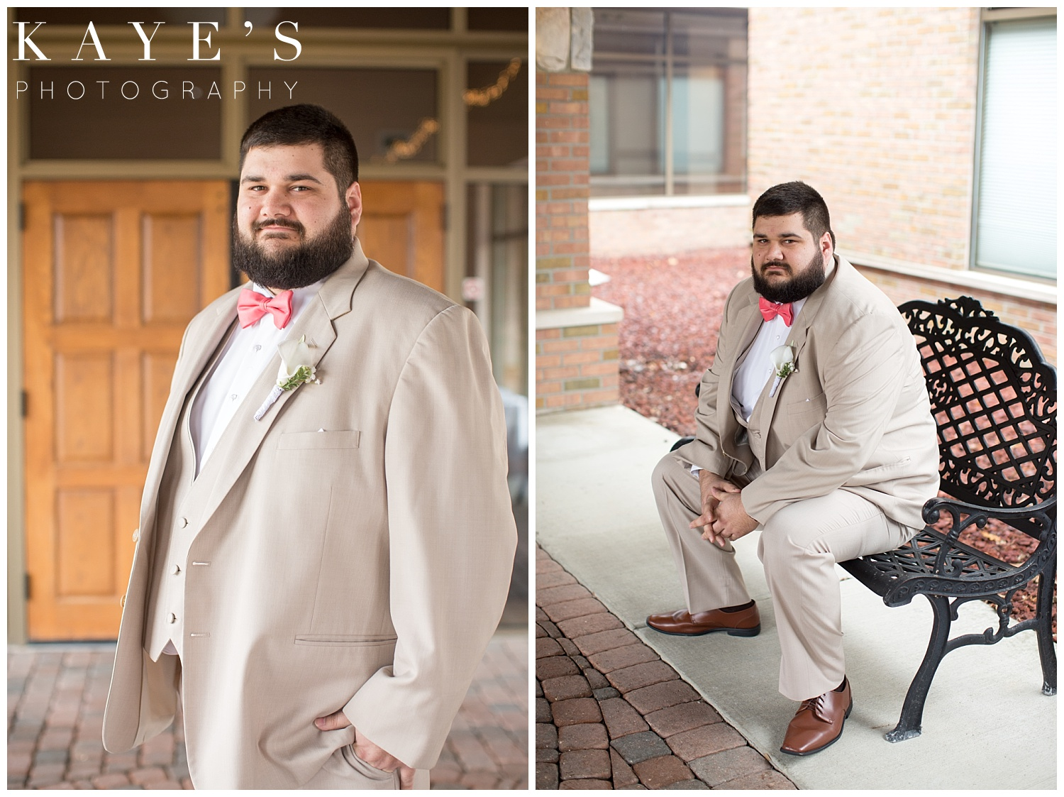 groom portraits at lapeer country club by kaye's photography