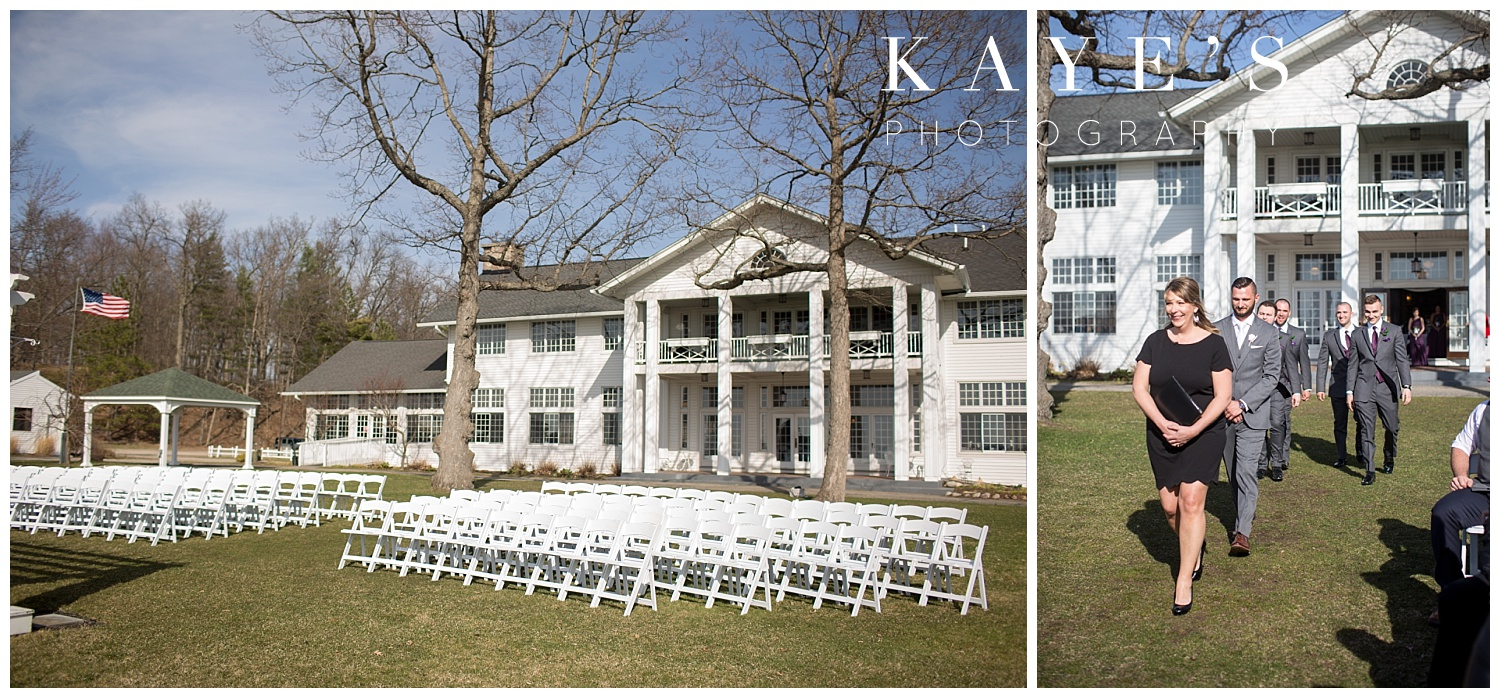 waldenwoods resort ceremony location in front of mansion