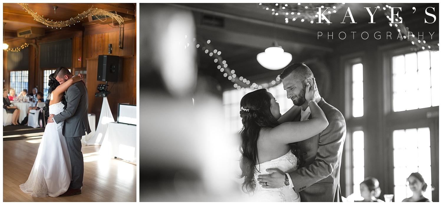bride and grooms first dance by howell michigan wedding photographer