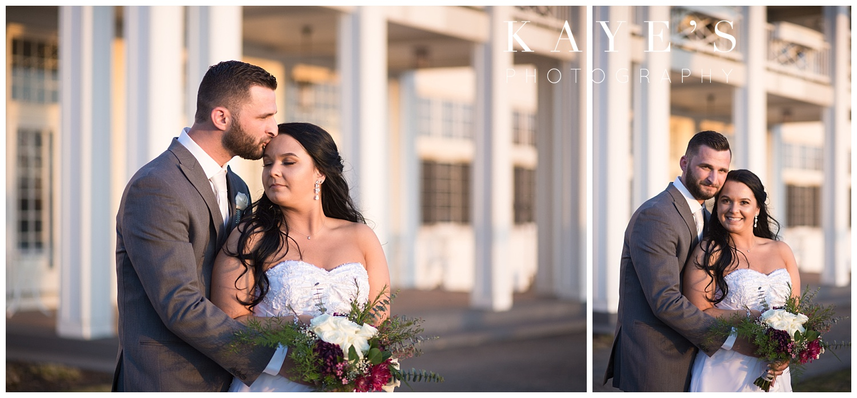bride and groom wedding photos by a michigan wedding photographer