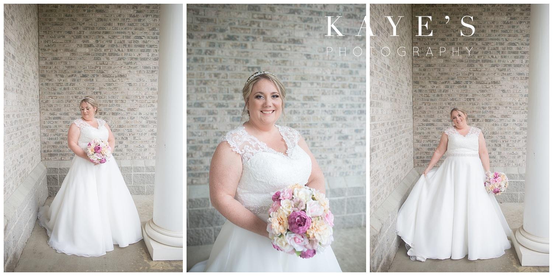bridal photos of bride before wedding in flushing, michigan