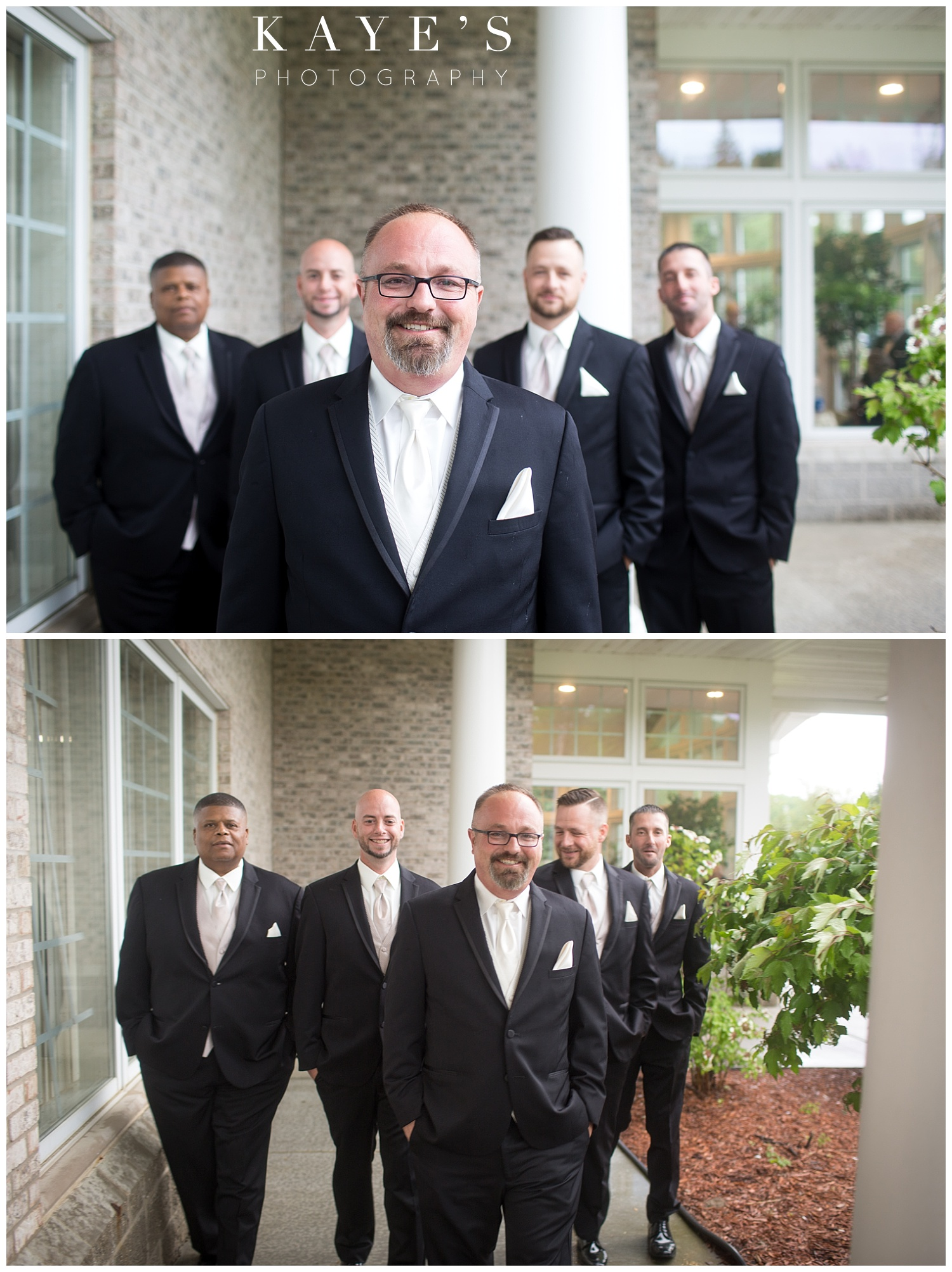 groom portraits before the ceremony at flushing valley golf course