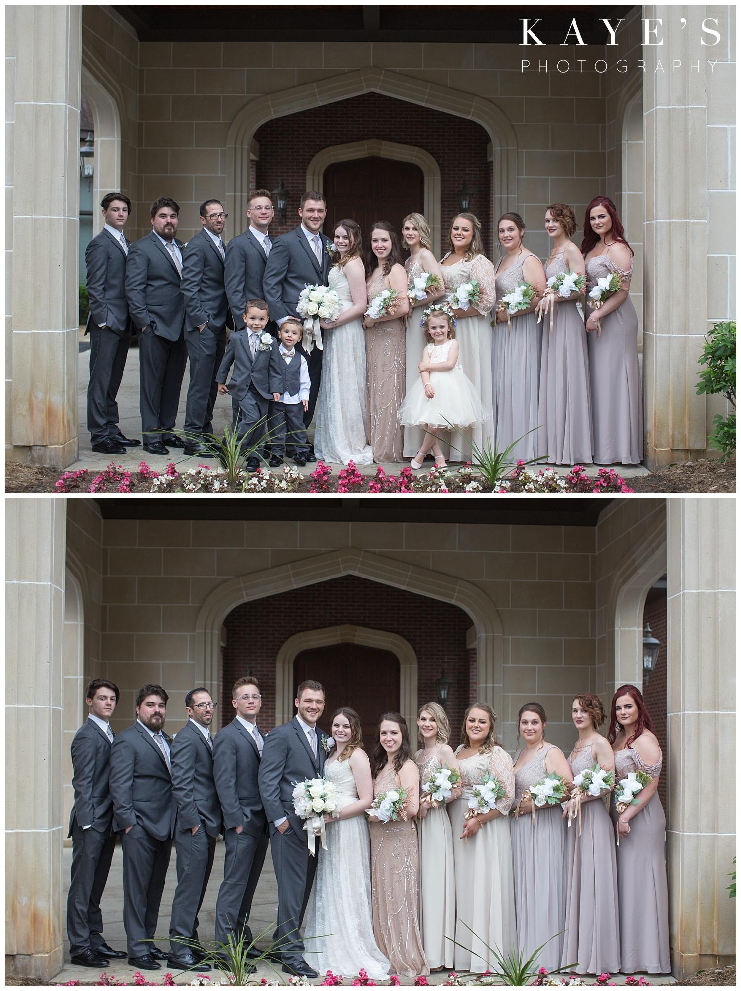 bridal party at warwick hills in grand blanc michigan