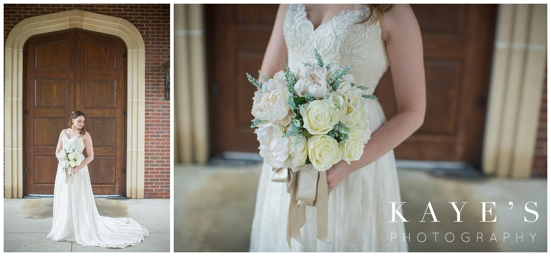bride details during wedding photos at warwick hills in Grand blanc Michigan