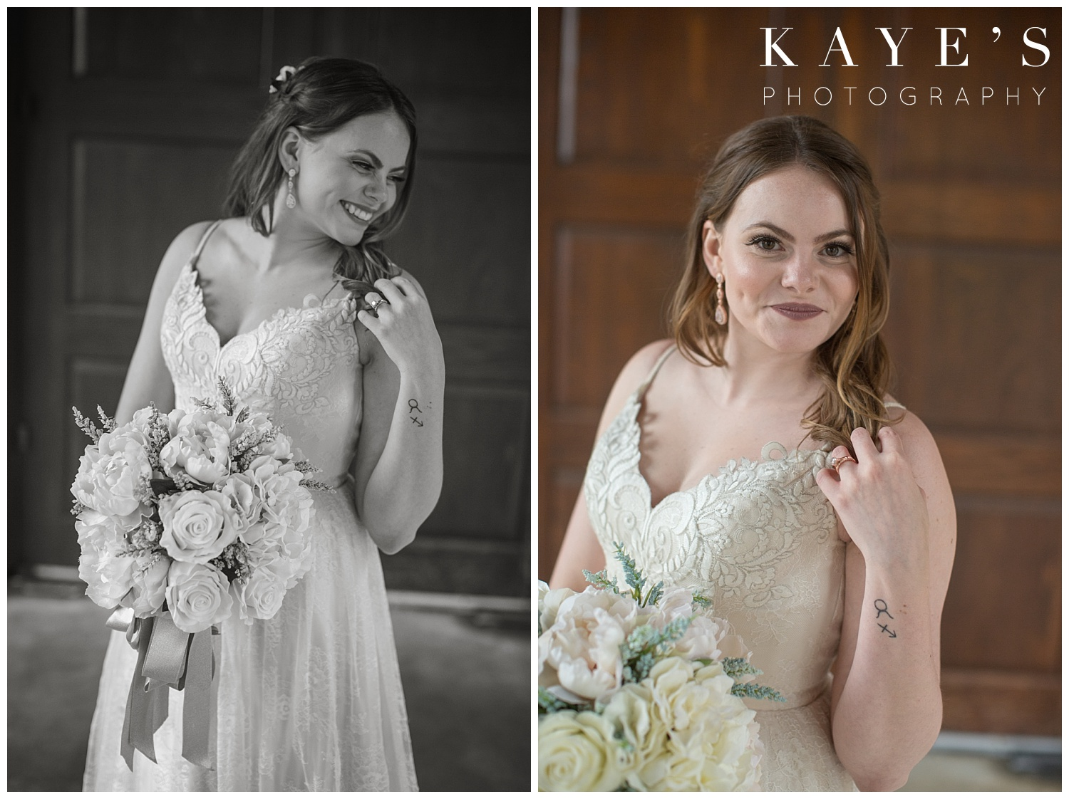 photos of the bride after ceremony at warwick hills in grand blanc