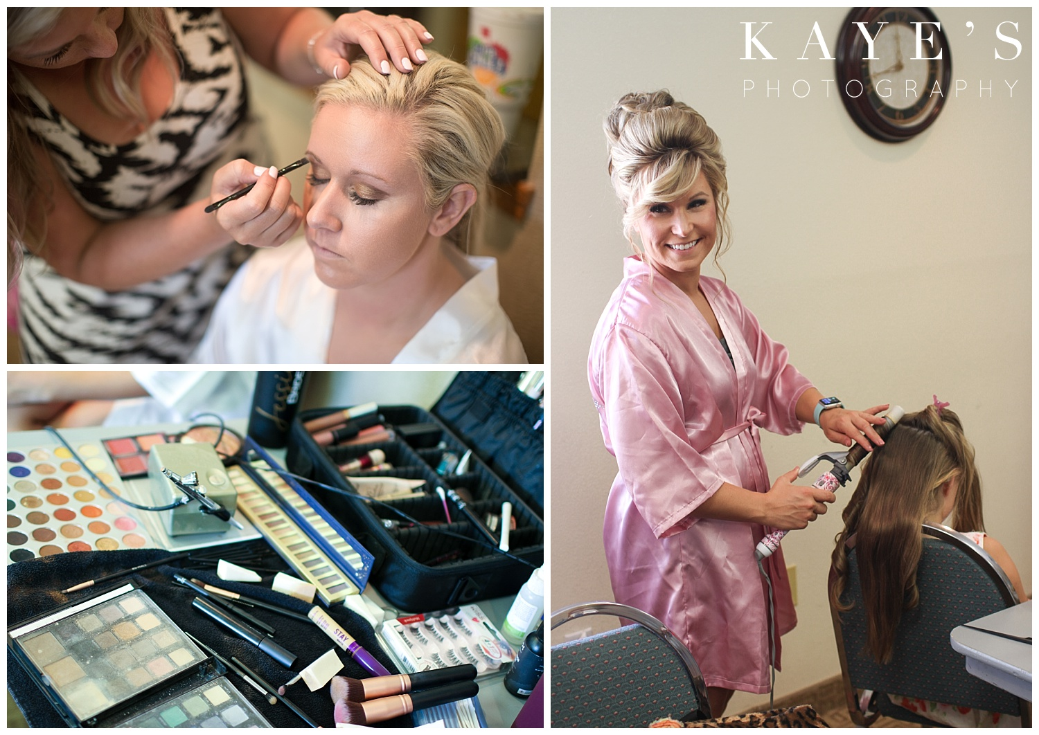 hair and make up before wedding ceremony in davison michigan