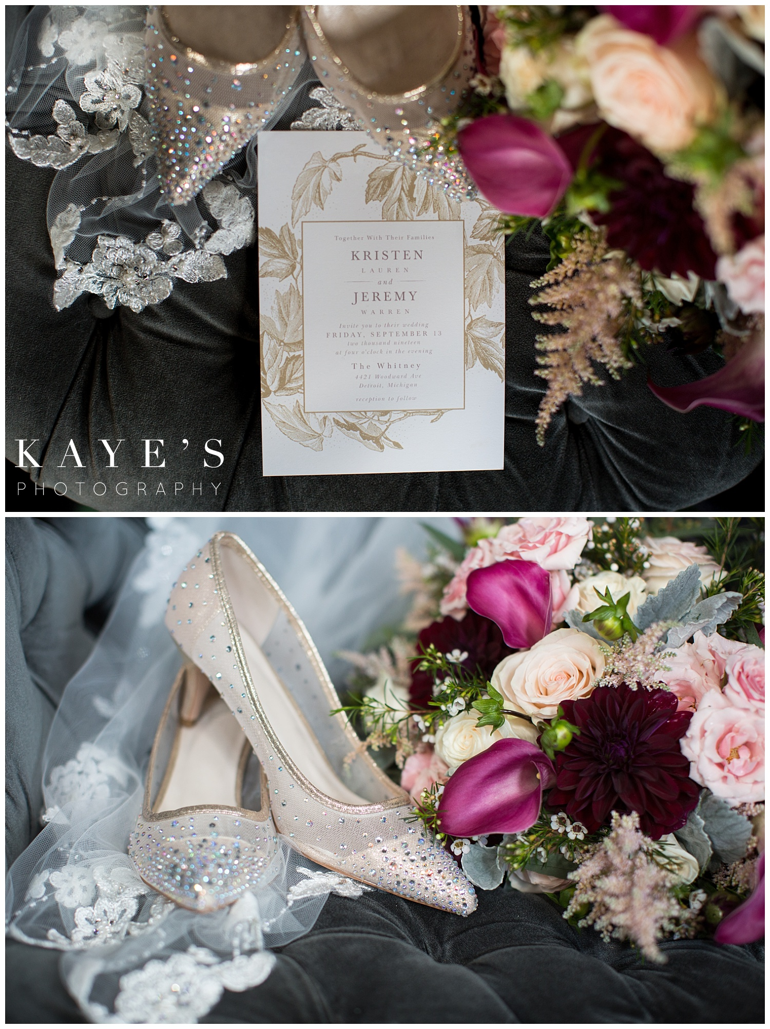 bridal details at the whitney mansion in detroit michigan