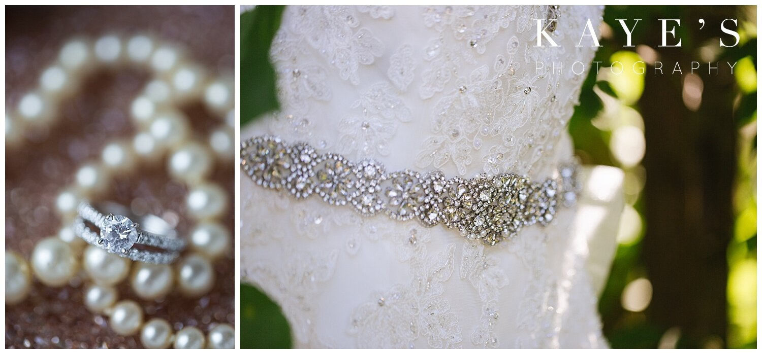 details of bride's dress before the wedding in grand blanc michigan