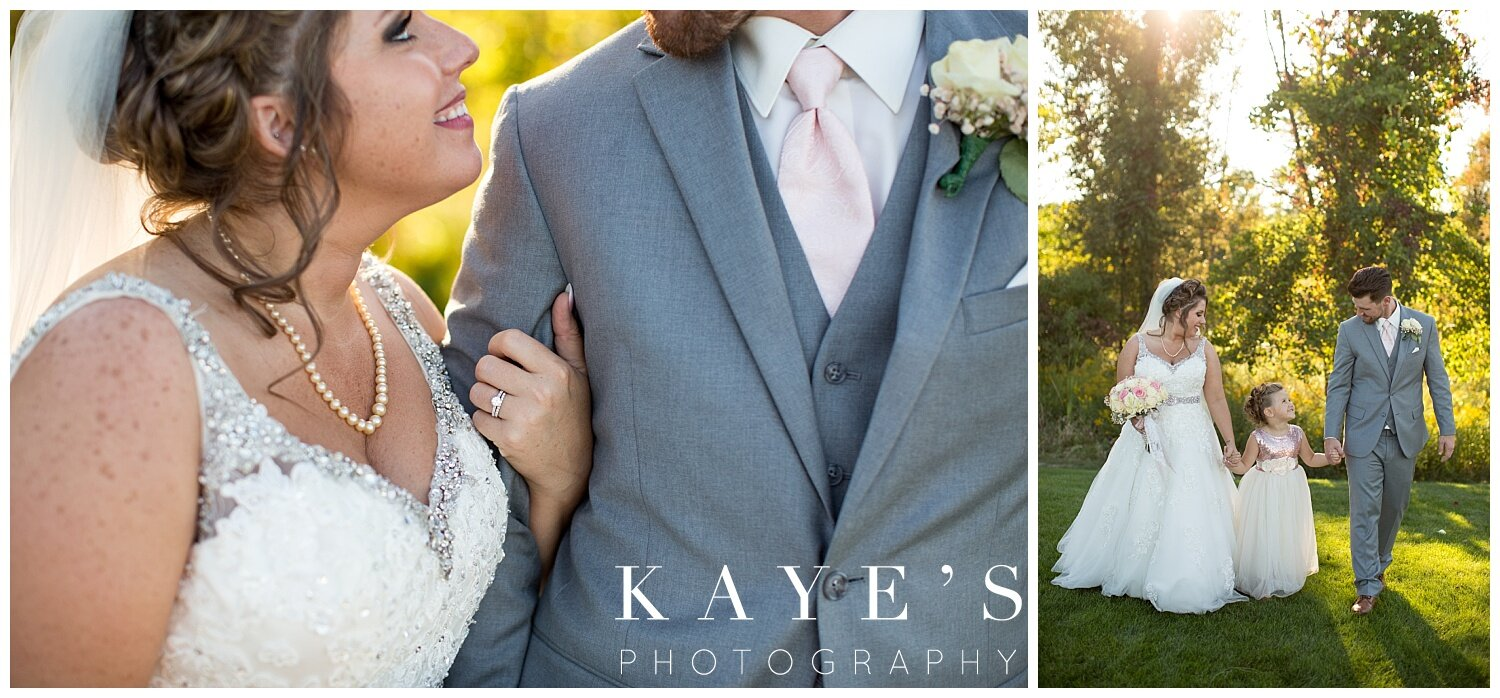 bride and groom portraits after wedding in grand blanc michigan