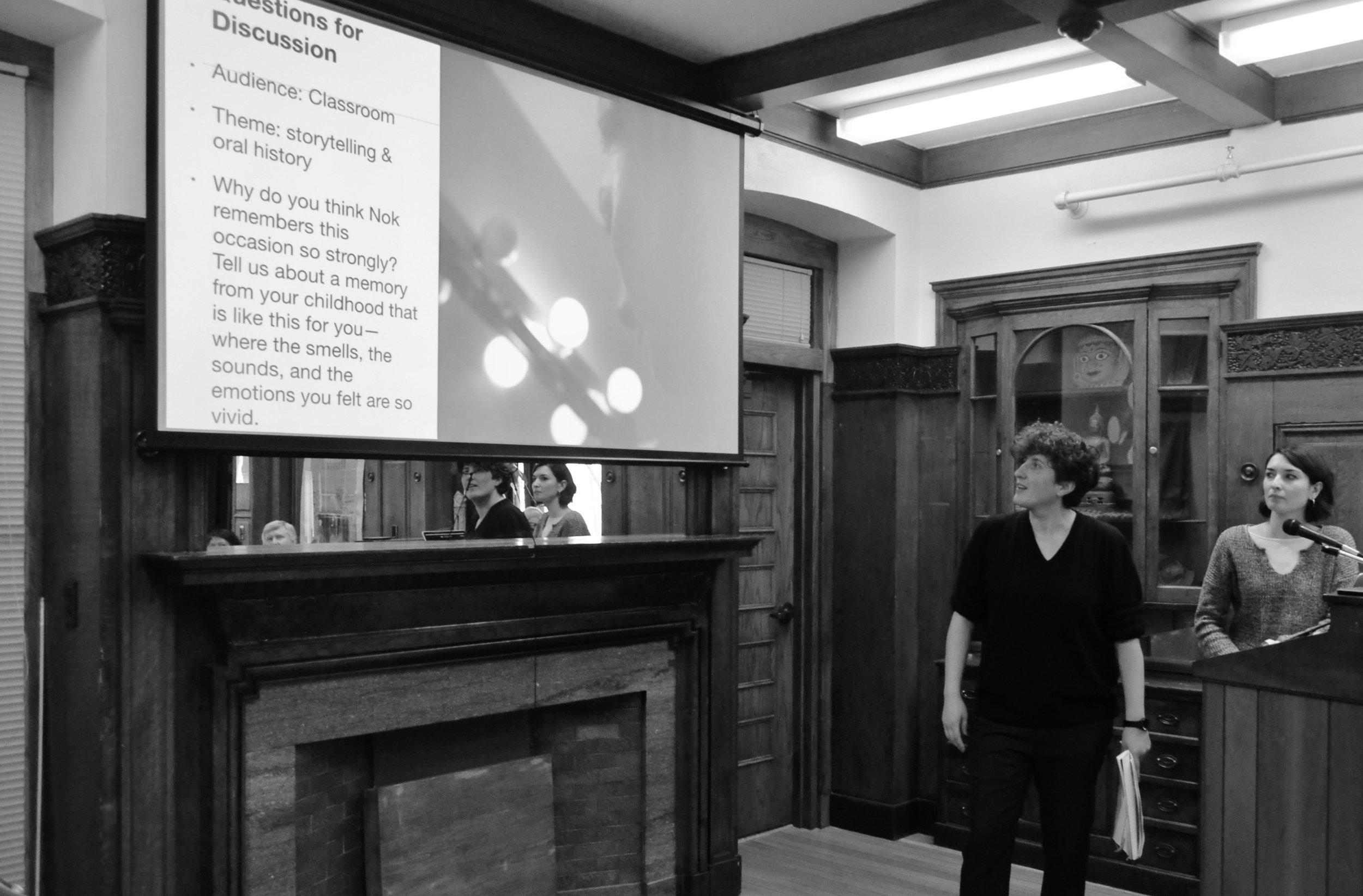 Mariangela & Emily co-facilitating 2018 workshop at Cornell University