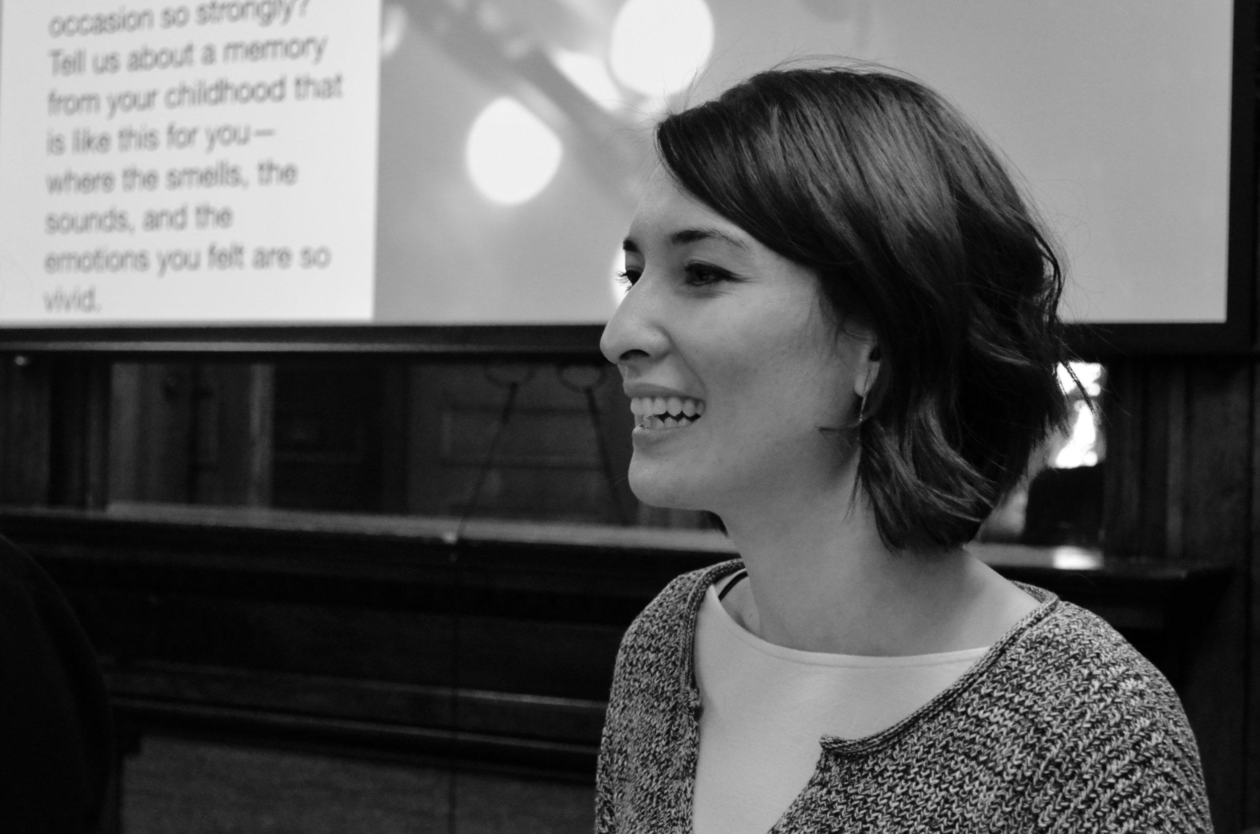 Emily presenting 2018 workshop at Cornell University