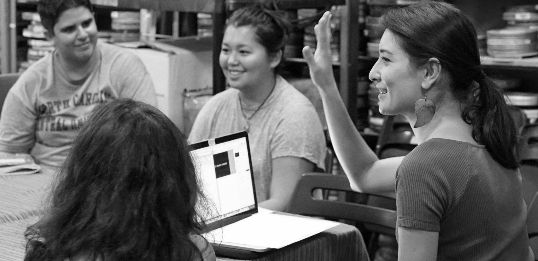 Emily teaching 2017 workshop at Echo Park Film Center for Action!