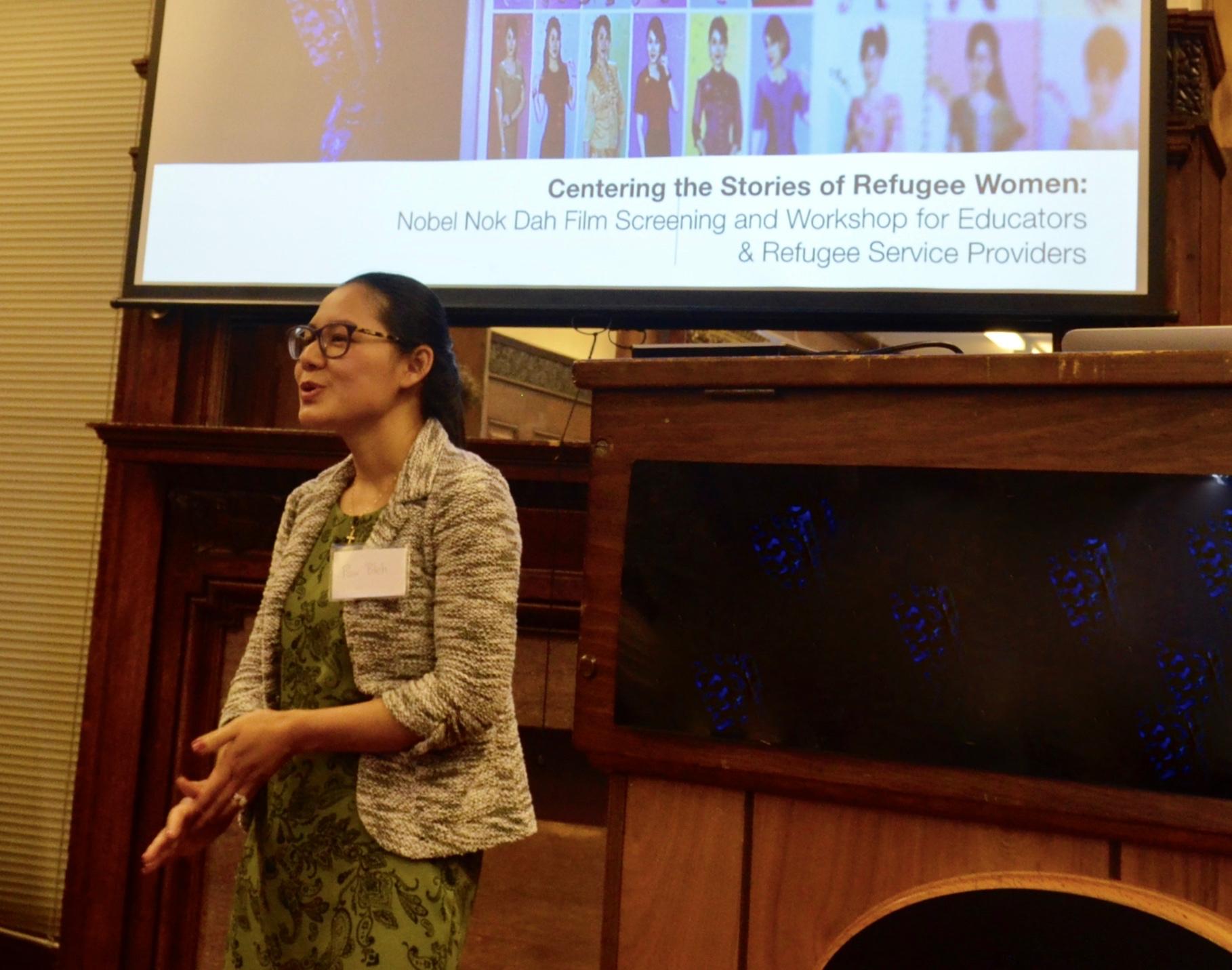 Nok presenting at 2018 SEAP Workshop at Cornell University