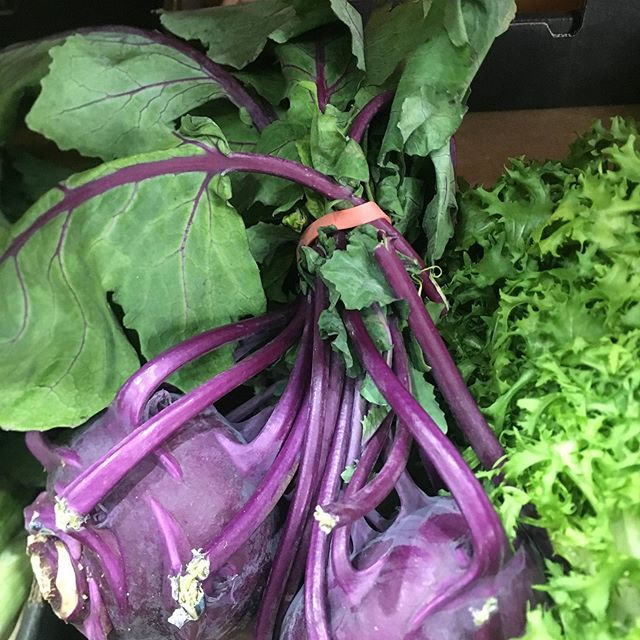 KOHLRABI: Quality is very good at the moment.  Purple and Green available. Perfect in salads / slaws or cooked. #winter #vegetables #green #purple #kohlrabi #local #produce #Australian #sydneymarkets #chefsofinstagram
