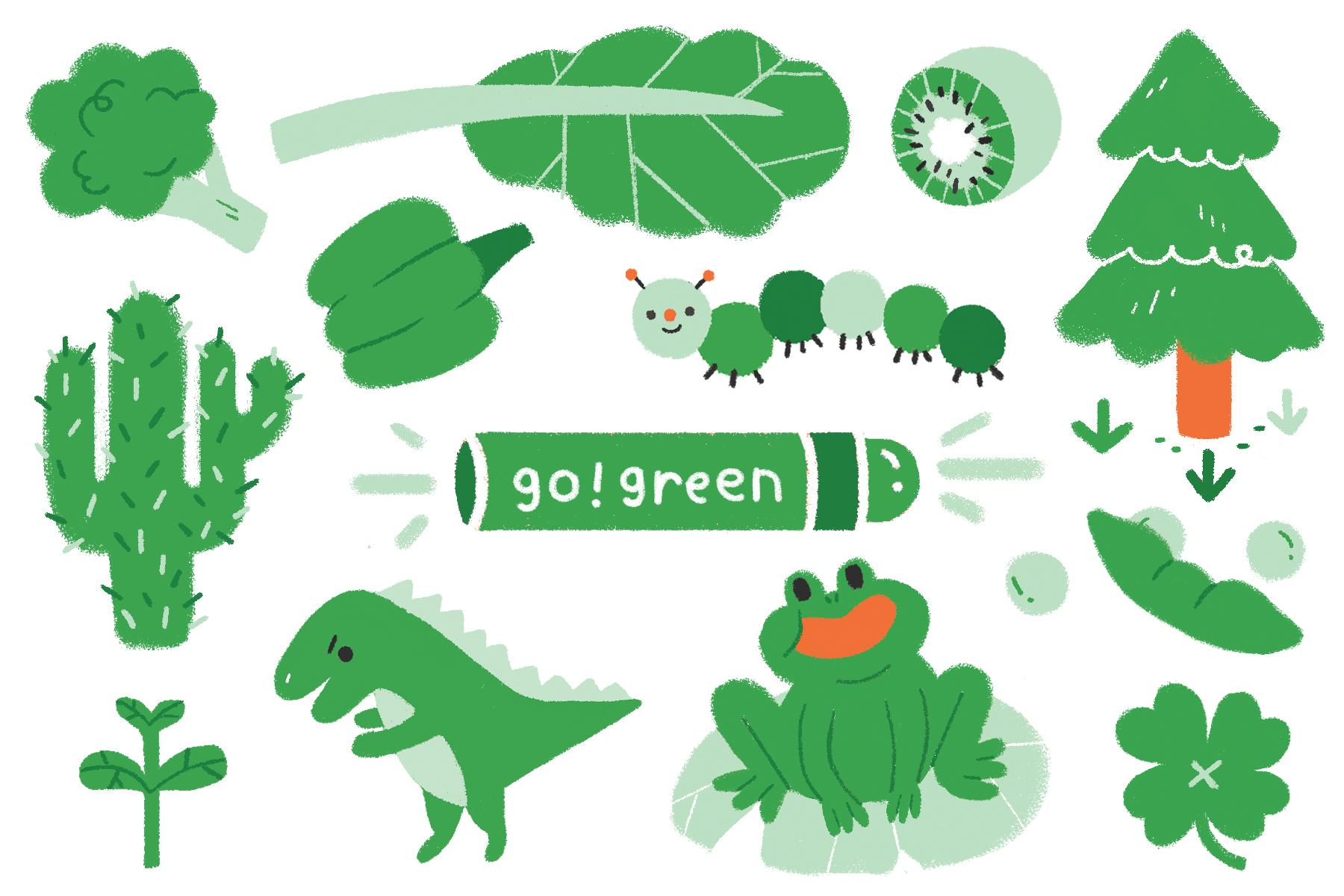 SoaPen Postcard - Green