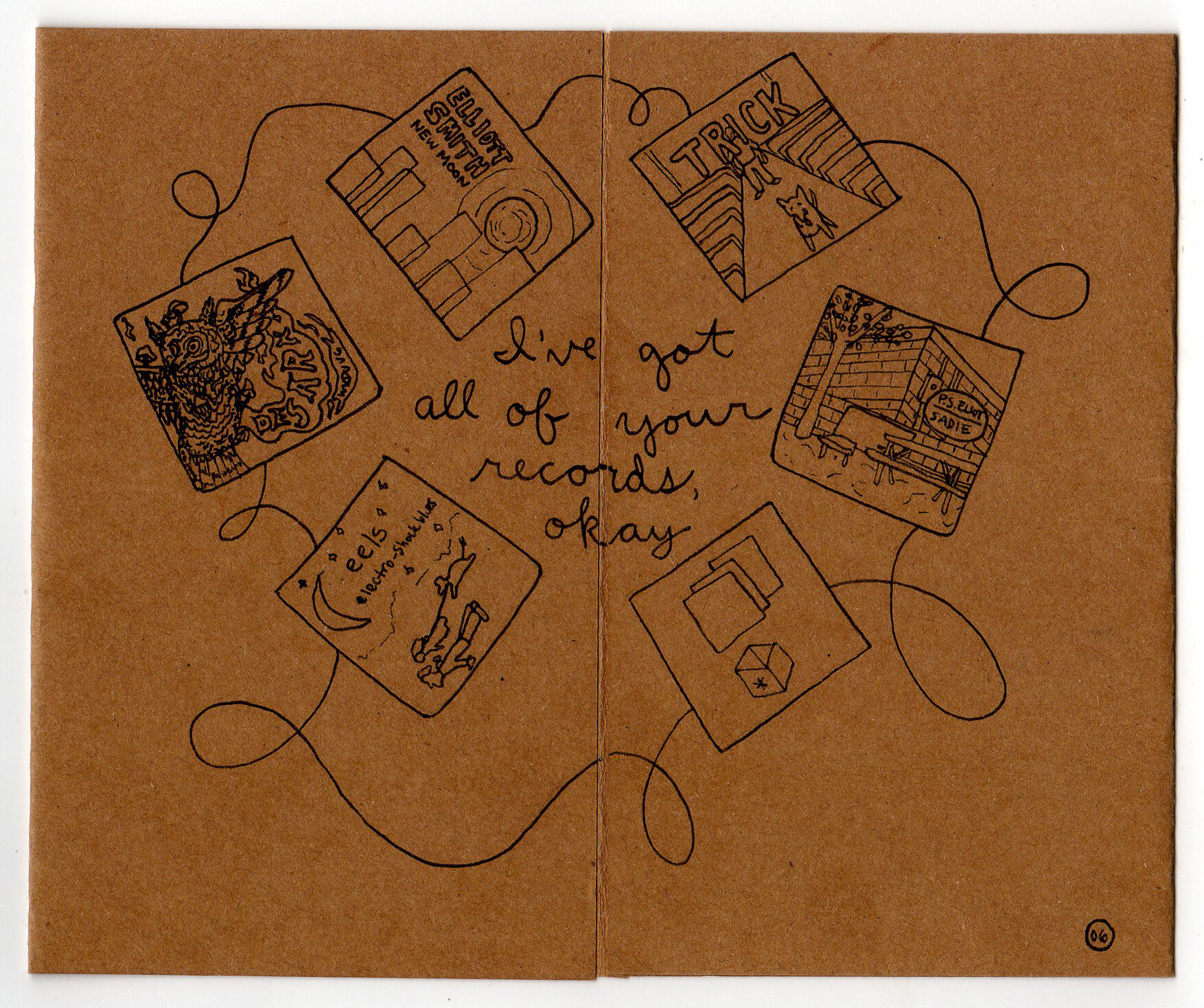 mix cd booklet for a friend, p.s. eliot lyrics
