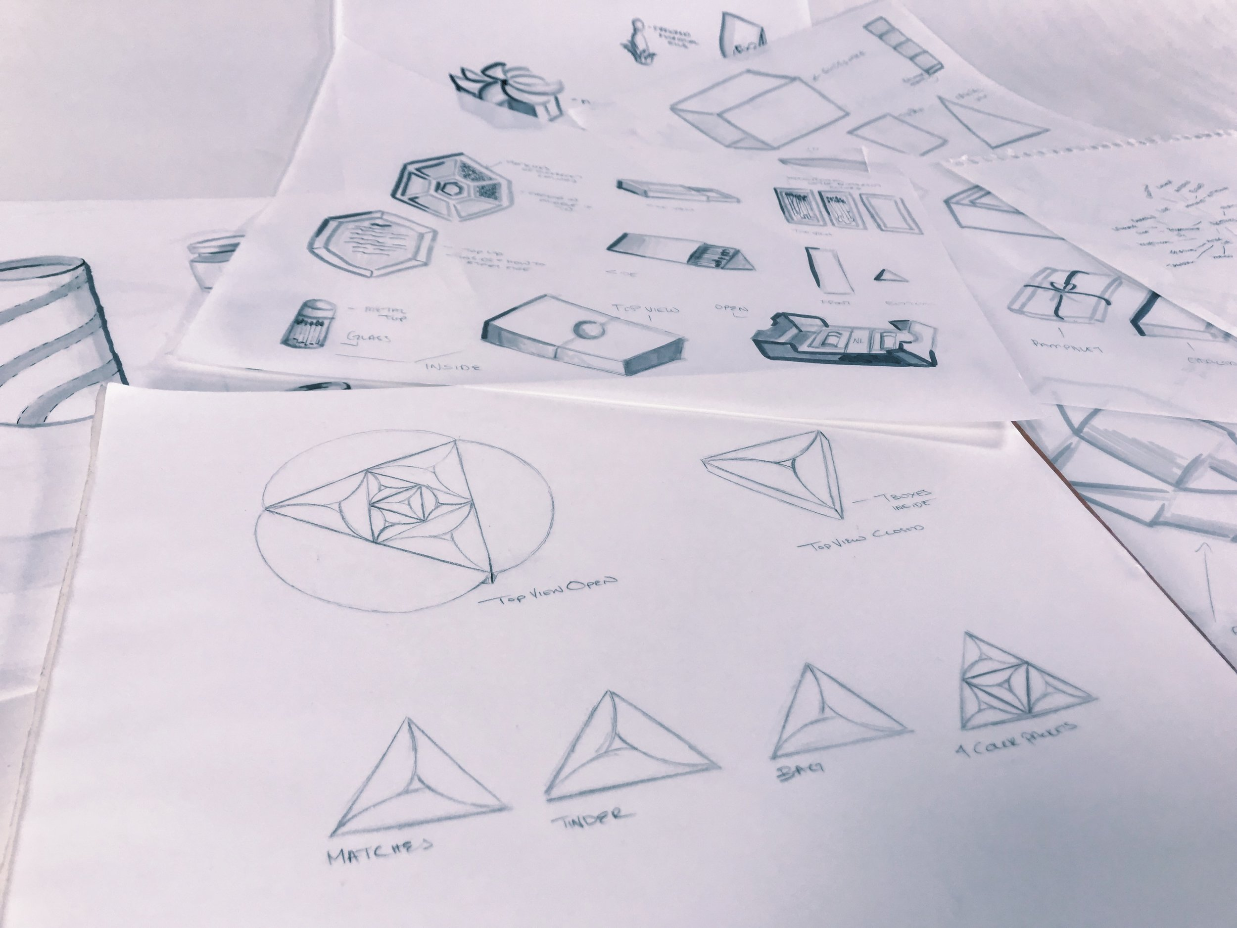 Sketches & design ideation.