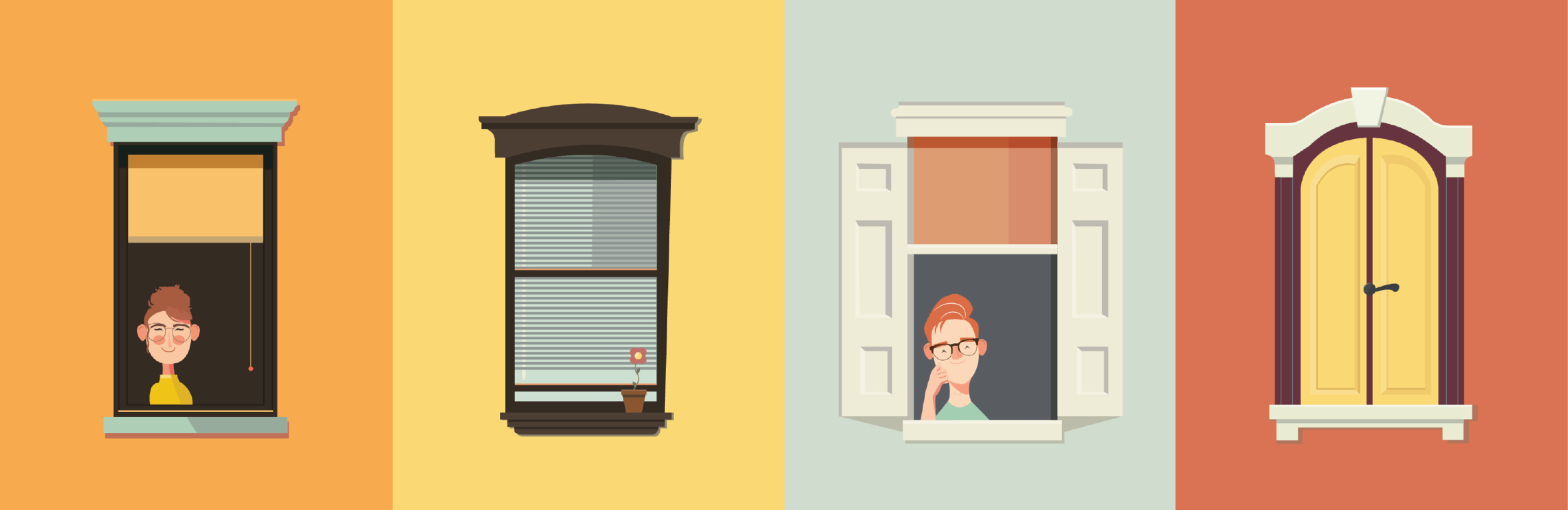 Character and window design.