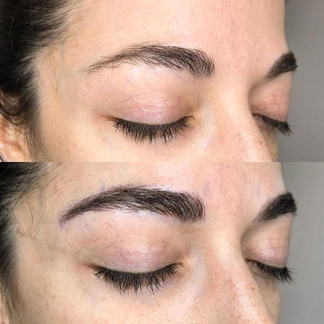 Subtle natural looking enhancement to these already great brows. 🙏😌 . . #brows #microblading #featherbrows #microfeathering #microstroking #micropigmentation #3deyebrows #spmu #permanentmakeup #permanentbrows #browgamestrong #naturalbrows #microbladingeyebrows #envybodypiercing #californiabrows #californiamicroblading #browsbycorinne