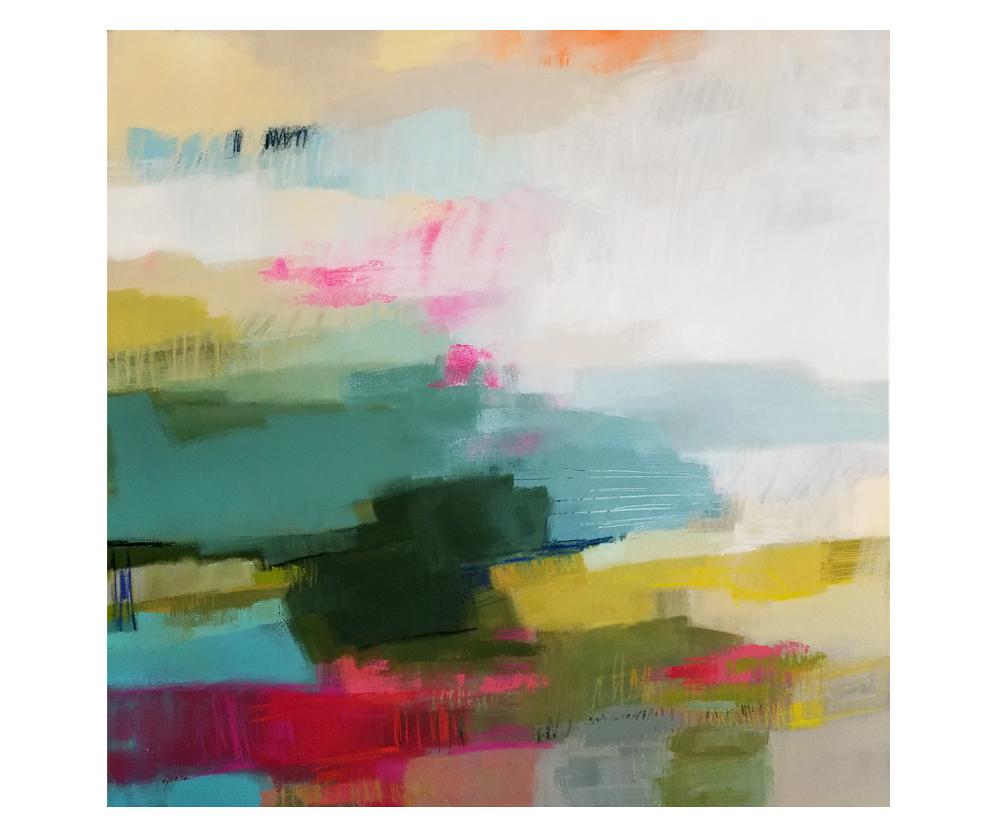 """""""Still Light"""" mixed media on canvas. 36x36"""""""