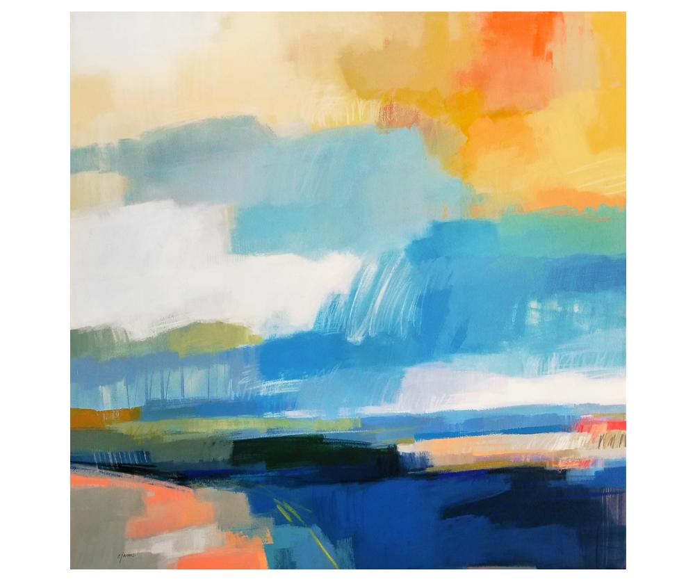 """Vivid Light"" mixed media on canvas. 36x36"""