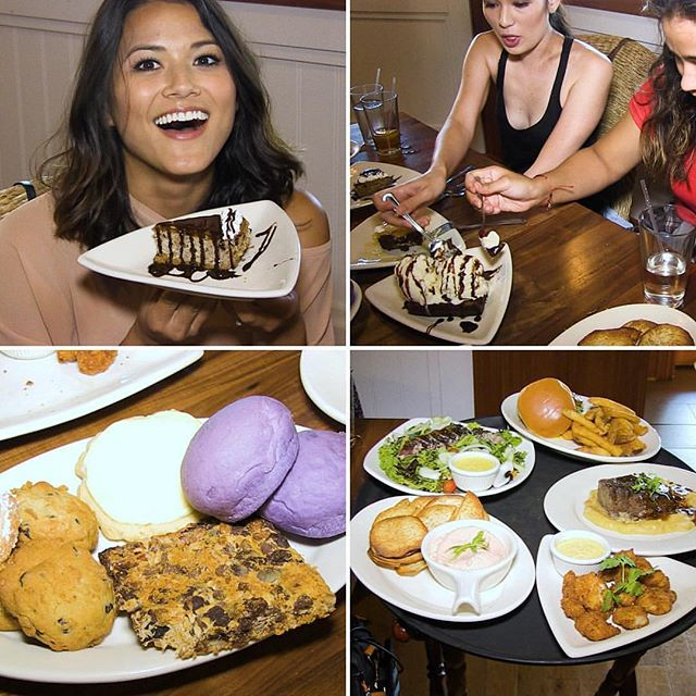 Crystal and the models enjoy lunch at Pounders Restaurant at Hukilau Marketplace.  6pm on KFVE.  Don't miss it!