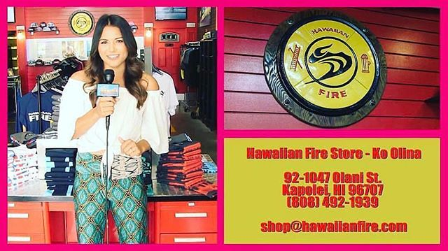 Tonight Livin' Hawaii visits Hawaiian Fire in Ko'Olina.  7pm on KFVE!  Don't miss it!  #livinhawaiitv #kfve #fashion #shopping #clothing #style #supportlocal #shoplocal #hawaii #oahu #dining #restaurants #dessert #boutiques #swimwear #aliinanimd #hawaiianfire #firefighteractivewear #firefighters
