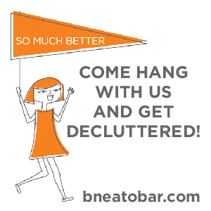 We heart BNEATO - big ups to Beth who helped us get organized!