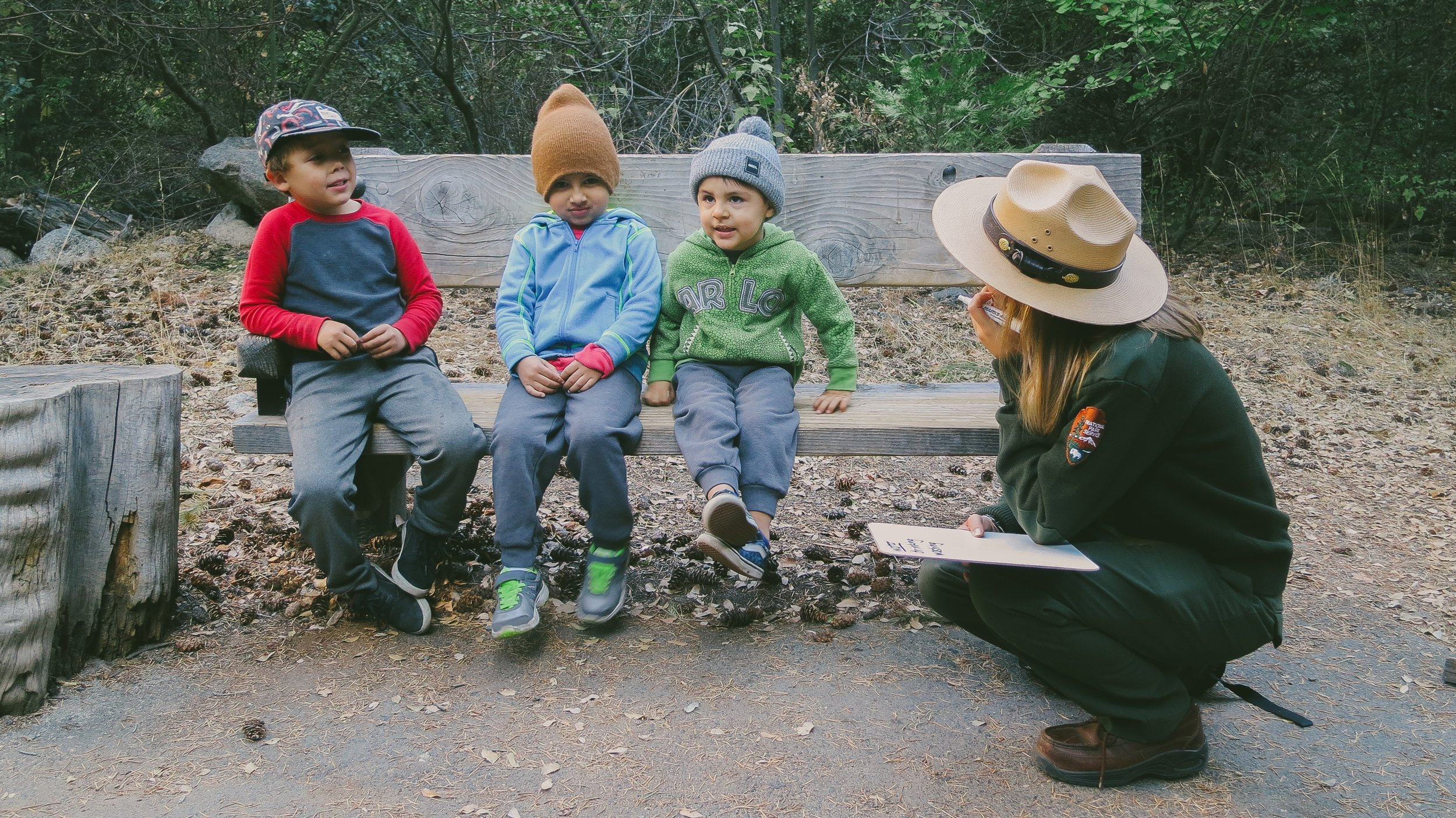 Miles, James and Henry - the Lost Boys, learning about the Yosemite's Rivers + Lakes. Photo:  I Luv Frames