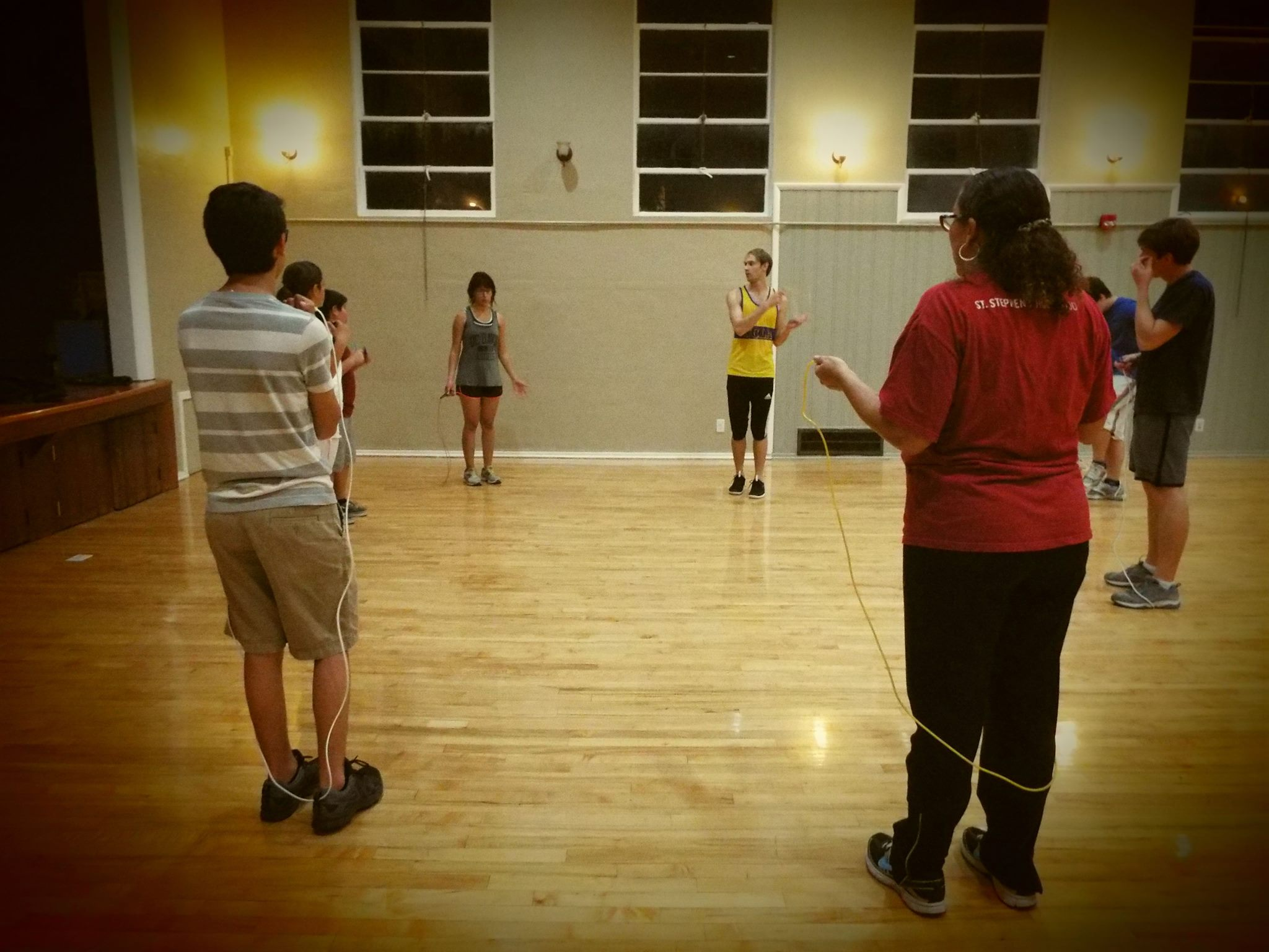 Jump rope class in Hollywood.
