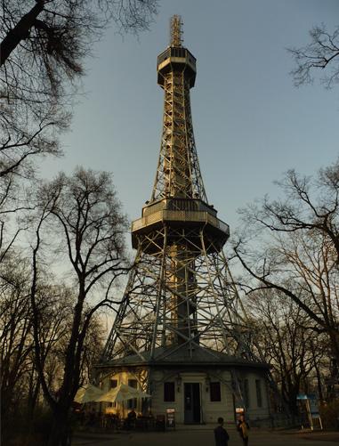 Petřín Tower.       Photograph: Alex Bertulis-Fernandes