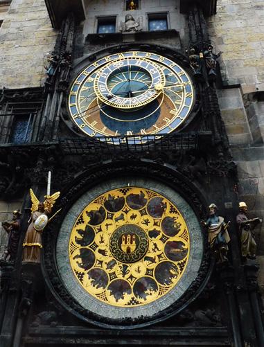 The Astronomical Clock.     Photograph: Alex Bertulis-Fernandes