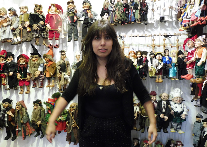 Pulling all the right strings? Inside a marionette shop.               Photograph: Charlotte Roper