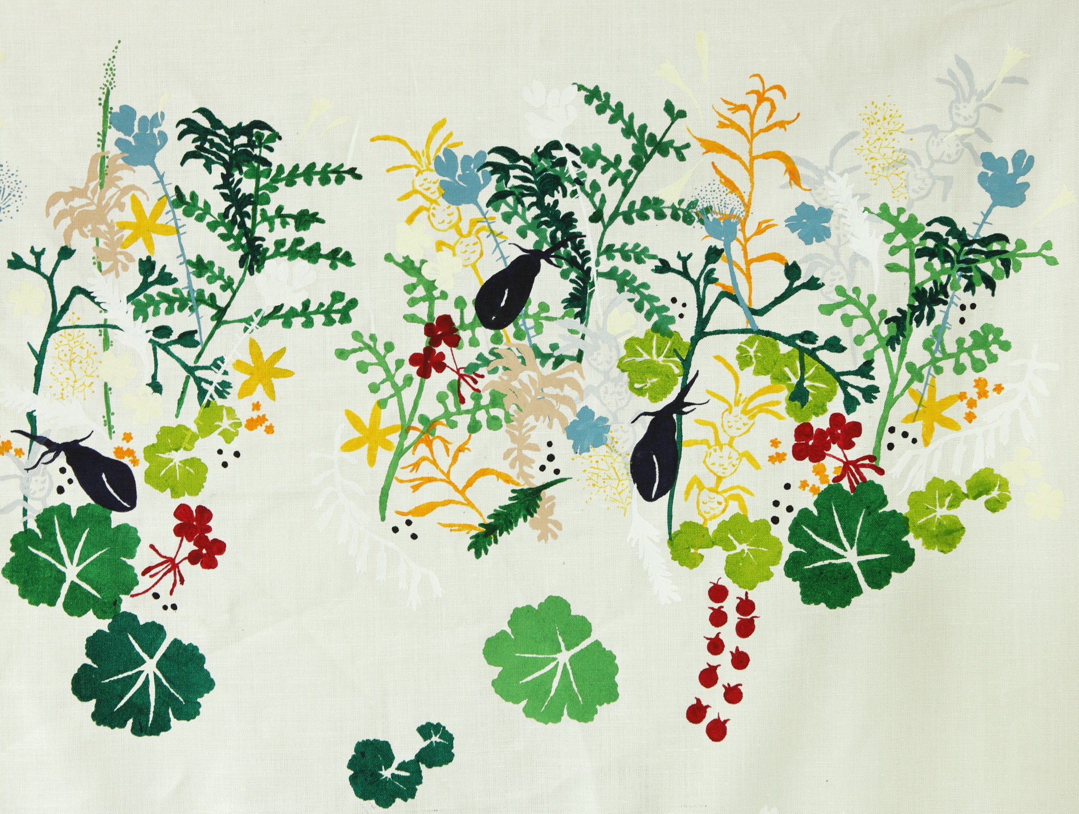MOMAT artists textile Thicket Garden designed by David Bellamy