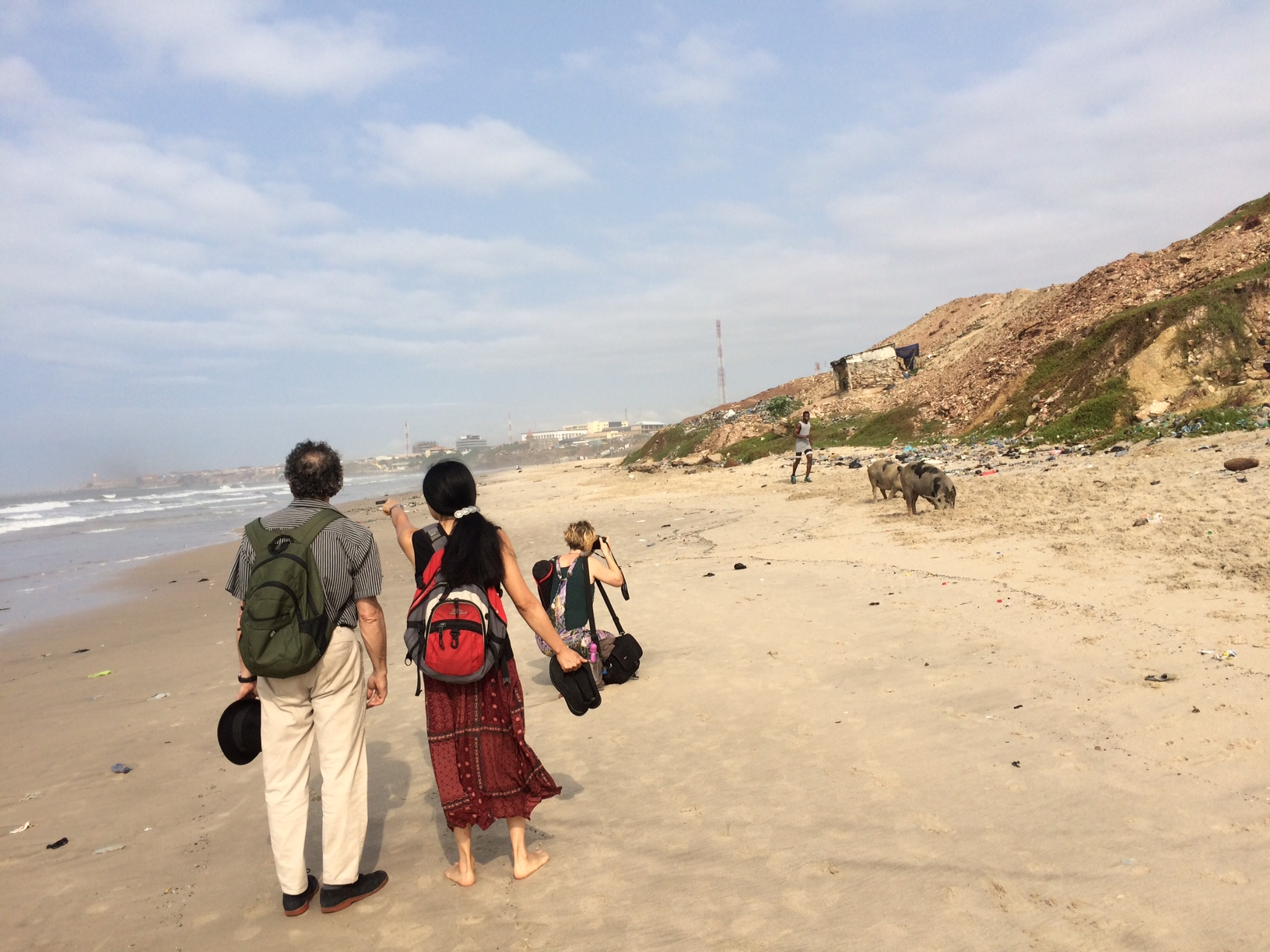 From left: Andy Teirstein, Valerie Narajo, and Cari Ann Shim Sham Photo by Wendy Perron