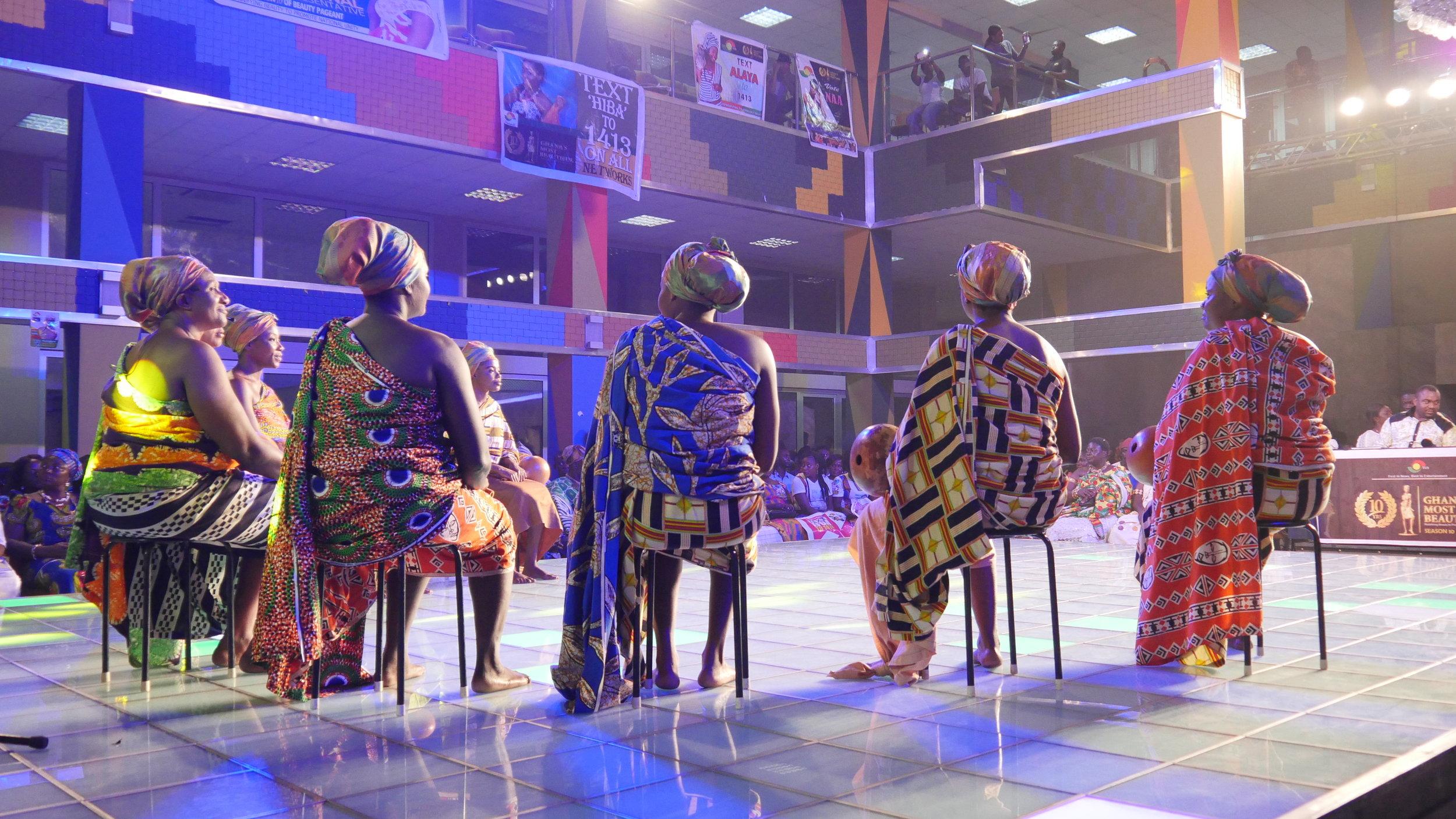 Elders Seated at Ghana's Most Beautiful TV Show Photo by Cari Ann Shim Sham