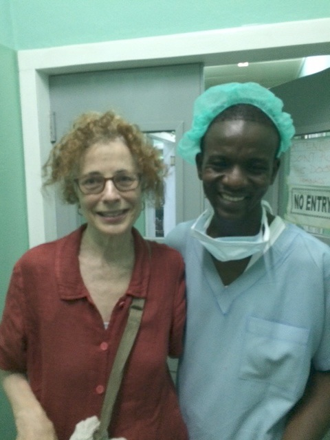 Wendy with Dr. Abanekolgo Photo by Andy Teirstein