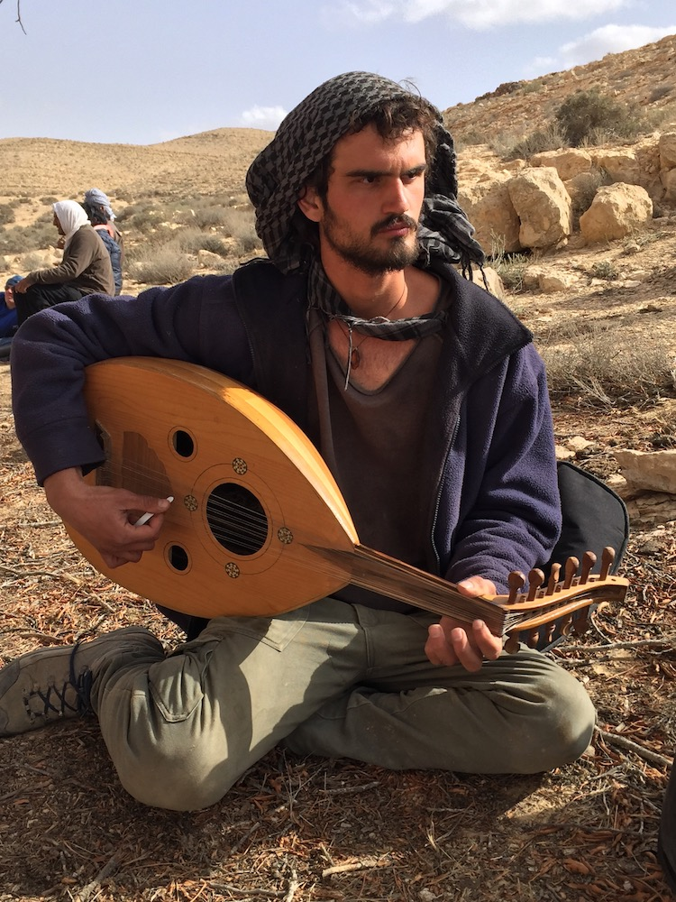Oud player during lunch Photo by Andy Teirstein