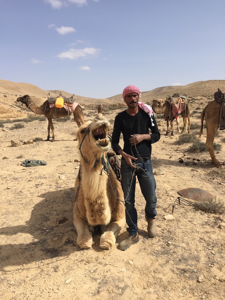 Saeed, with a camel Photo by Andy Teirstein
