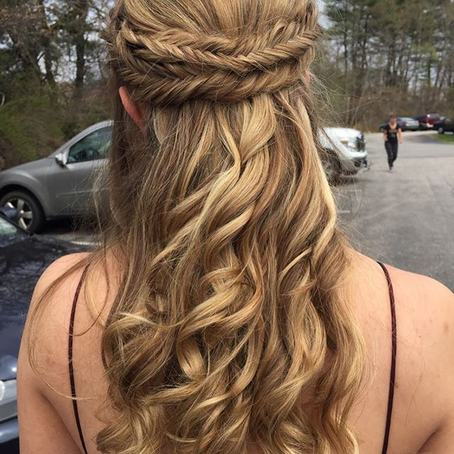 #prom today I had the pleasure of doing my nieces hair for her prom.